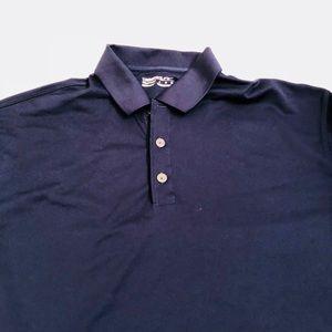Nike Shirts - Nike Men's Golf Large Navy Blue Fit Dry Polo EUC